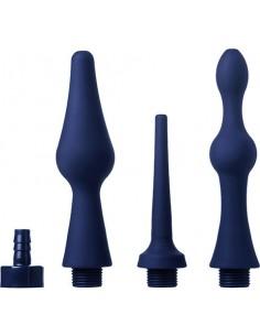 Kit Soffioni Doccia Anale Cleanstream Universal 3 Piece Silicone Enema Attachment Set