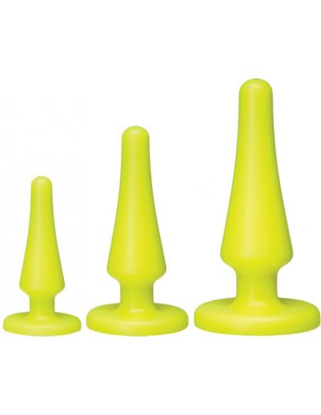 Kit Plug Anali American Pop! Launch! Anal Trainer Set Yellow
