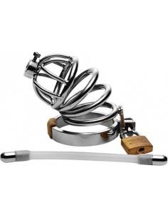 Gabbia Di Castita' Con Plug Per Pene Steel Chastity Cage