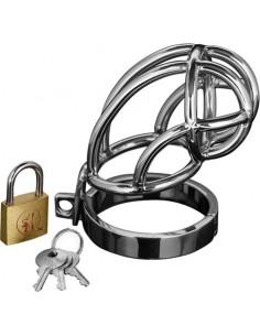 Gabbia Di Castita' Captus Steel Locking Chastity Cage