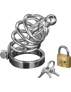 Gabbia Di Castita' Asylum 4 Ring Locking Chastity Cage