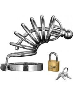Gabbia Di Castita' Asylum 6 Ring Locking Chastity Cage