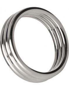 Anello Fallico D'acciaio Echo 1.75 Inch Steel Triple Cock Ring