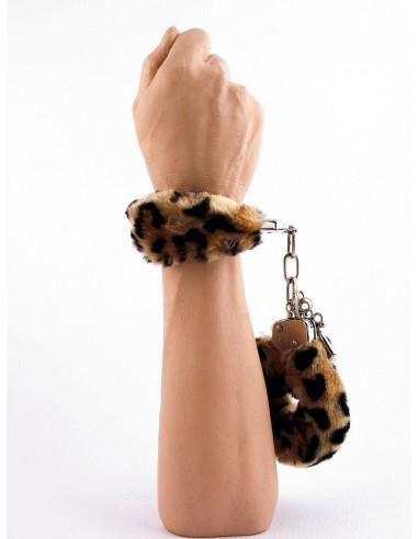 Manette Peluche Love Cuffs Leopardato